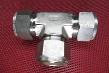 """SSP Duolok® 3/4"""" Tube OD Equal Union TEE/T Fitting 316 Stainless Steel .75 0.75"""