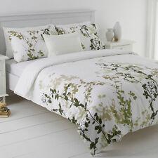 Mia Green Queen Size Quilt / Doona Cover Set  In 2 Linen Covers  NEW Leaf Design
