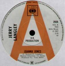 "[COOK / GREENAWAY] JERRY LANGLEY ~ JOANNA JONES / HOW LONG ~ 1967 UK ""PROMO"" 7"""