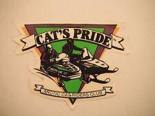 """Vintage Arctic Cat """"Cat's Pride"""" Riders Club Decal LG"""