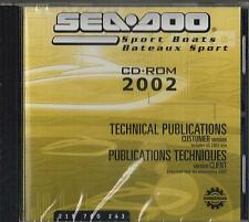 2002 SEA DOO SPORT BOATS SERVICE,PARTS,OWNERS MANUAL on CD ROM 219 700 243 (918)