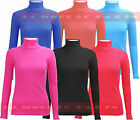 C58 NEW WOMENS POLO NECK LADIES LONG SLEEVE STRETCH RIB LONG PLUS SIZE TOP 08-28