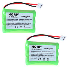 2-Pack HQRP Cordless Phone Battery for Sanik 3SNAAA75H-S-J1/F, 3SN-AAA80H-S-J1