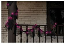 Impact Innovation H5604N13 Halloween Lighted Gauze Garland, Black