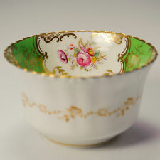Coalport Batwing PANNELLO Apple Verde Sugar Bowl no crepe 1891-1920