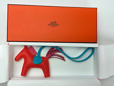 NEW Hermes Rodeo Horse Charm PM Orange Poppy/Roze Azalee for Birkin Kelly