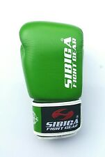 16oz Leather Green Boxing Gloves,Muay Thai,Kickboxing,sparring