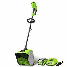 GreenWorks GLSS404100 G-MAX 12-Inch Cordless Snow Shovel, With Battery & Charger