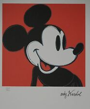 Andy Warhol Mickey Mouse Lithograph Limited 5000 pcs.