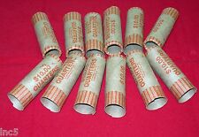 50  Preformed  Coin Wrappers  Quarters