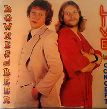 DOWNES AND BEER 2 LP SET LIVE IN CONCERT MADE IN ENGLAND 1980