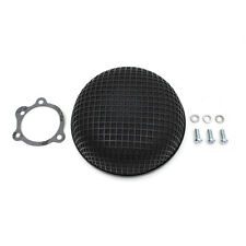 V-Twin Black Round Mesh Air Cleaner for Bendix-Keihin Butterfly Carbs Harley