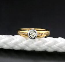 Brillant-Ring 0.40 carat 585-Gelbgold/Weißgold massiv Solitär mit Akzenten 36621