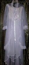 Vintage Bridal Style White Nightgown and Robe set - FREE SHIPPING