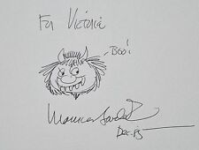 SCARCE 1ST TRADE ED. ~THE ART OF MAURICE SENDAK~SIGNED W. A WILD THING DRAWING