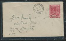 BRITISH GUIANA (PP1906B) 1949 3C ON COVER RIVER STEAMER TPO