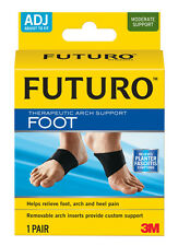Futuro Therapeutic Arch Support Adjustable - 1 Pair relieves Plantar Fasciitis