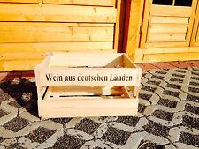 1x Weinkiste Weinkisten Holzkisten Dekoration Weinregal Weinsteige Flaschenkiste