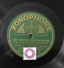 "RARE 78RPM 12"" ZONOPHONE LIGHT OPERA COMPANY GEMS FROM PIRATES OF PENZANCE 1/2"