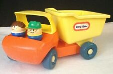 Vintage 80's/ 90's Little Tikes Toddle Tots DUMP TRUCK w/ 2 Chunky People