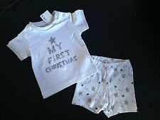 BNWT Baby Boys or Girls 0 Cute Target My First Christmas Summer Pyjamas Set