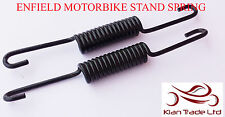 MOTORCYCLE BIKE ROYAL ENFIELD BULLET PAIR CENTER STAND UNIVERSAL SPRINGS 2pc-Blk