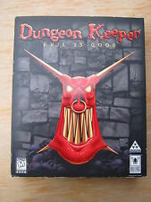 *RARE* DUNGEON KEEPER Big Box COMPLETE w/ Jewel Case Disc Manual Reg. Card MORE+
