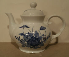 Collectible Porcelain Tea-Coffee Pot/Toscany Collection Fine China Blue Flowers