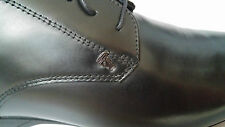Versace Collection black leather MEN'S derby shoes size 7UK (41EU)