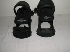 Technine Snowboard  Bindings Black New Strap-In Two Discs