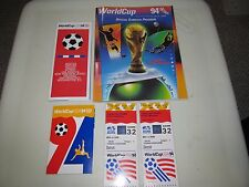 2 World Cup USA 1994 Detroit Stadium 6-28-94 Brazil vs Sweden Tickets & Programs