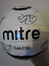 Morecambe 2013-2014 Squad Signed Football with FLT Charity Letter