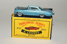 MATCHBOX MOKO LESNEY #57B CHEVROLET IMPALA, SPW, EXCELLENT, BOXED TYPE C