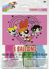 POWERPUFF GIRLS LATEX BALLOONS (8)~ Birthday Party Supplies Helium Decorations