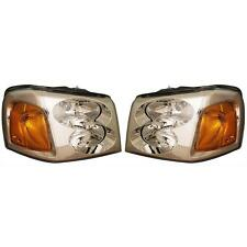 Gmc Envoy 02-09 Headlights Headlamps Pair Set Left & Right