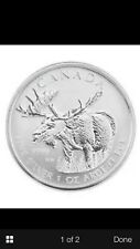 1 oz 9999+ pure silver coin Canadian Moose Limited Edition