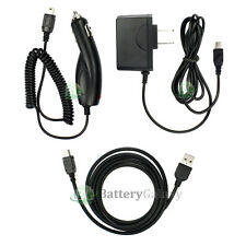USB Cable+Car+Wall Charger for TomTom One XL XXL 325S 330S 350S 550S 550T 550TM