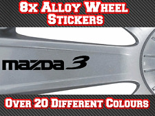 8x Mazda 3 Vinyl Stickers Decals for Alloy Wheels, Door Handles, Mirrors etc