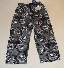 Collingwood Magpies Logo AFL Boys W16 Printed Flannel Sleep Pants Size 12 New