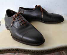 John Lobb Rare Vintage Dark Brown Museum Calf Leather Oxford Shoes Sz 40 EU/7 AU