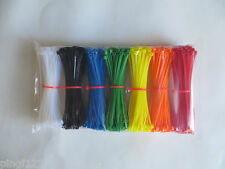 700pcs Cable tie zip lock 2.5 x 100mm  ~ 4 in with 7 color (7x100pcs)