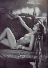 1937 Vintage Print: Romania, Romanian Woman Nude. By Manasse, Sun Engraving Co