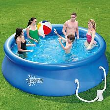 12 Ft Garden Easy Set Swimming Pool With Pump Portable Family Pool