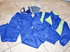"""""""APLINE DESIGN""""Blue/Green 2PCSnow Ski Suit&100%Wool Hat Jacket sz 10/Pant sz 12"""
