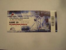 Marian Gaborik Autographed 500th NHL Point Ticket  January 31, 2010