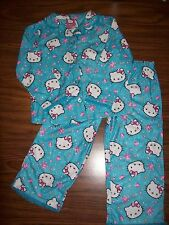 Girls HELLO KITTY JEWEL 2-Pc Pajamas - Size 6 - NEW NWT  MSRP $35  - AQUA