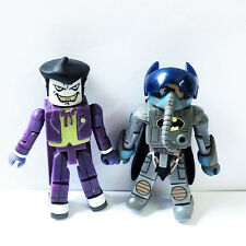 2pcs DC Batwing Pilot Batman Chemical Warehouse Battle Joker Minimates Figures