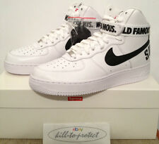 Nike X Supremo Air Force One Alta Us10.5 Us9.5 Caja logotipo 698696-100 Sp 2014