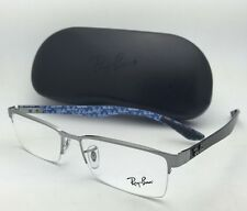 New RAY-BAN Rx-able TECH SERIES Eyeglasses RB 8412 2502 Gunmetal & Carbon Fiber