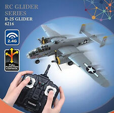 RC Radio Remote Control 2.4G 2CH World War 2 B25 Bomber Plane Ready to Fly